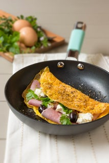 Easy Omelette with Ham and Cheese