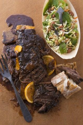 Beef Short Ribs in Black Bean and Liquorice Glaze