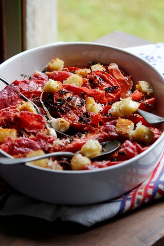 Baked Tomato Salad