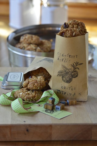 Cranberry Anzac Biscuits