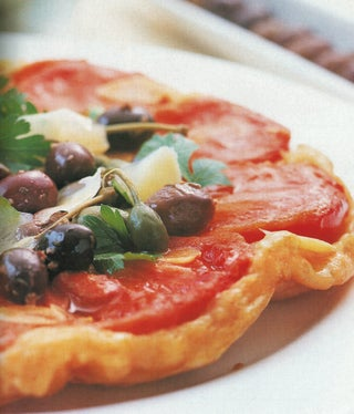 Upside-Down Tomato Tart With Smoked Cheese Pastry