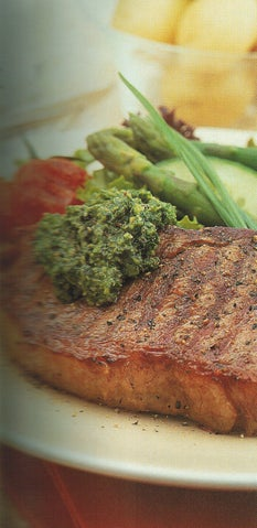 Bbq Steak With Avocado And Herb Sauce