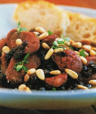 Chorizo And Pinenuts In Sherry