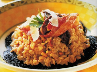 Mushroom Risotto With Red Wine And Figs