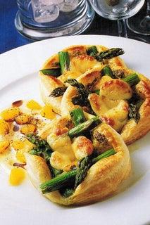 Asparagus And Cheese Tarts