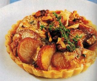 Caramel Onion And Potato Tarts