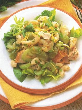 Warm Chicken Pasta And Herb Salad