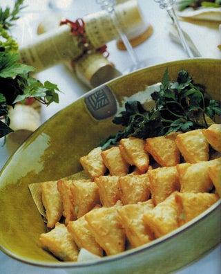 Blue Cheese And Grape Samosas