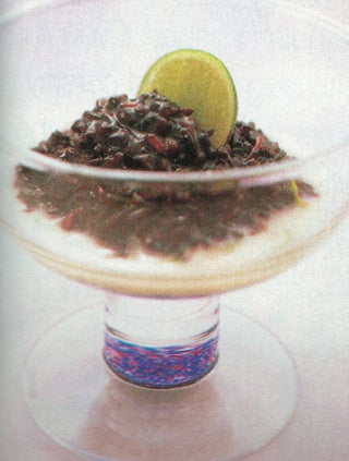 Black Rice With Lime Coconut Cream