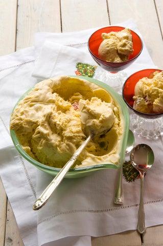 Nougat Christmas Ice Cream