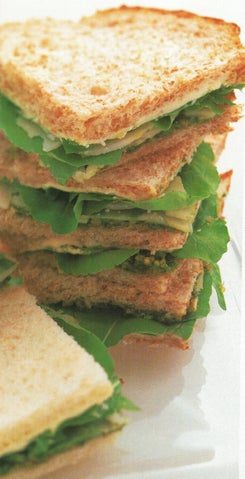 Pecorino Sandwiches With Parsley And Pistachio Nut Pesto