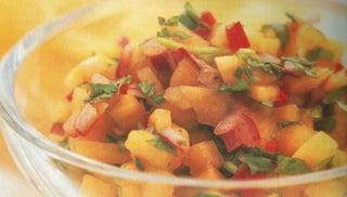 Fresh Mango And Lime Chutney With Crisp Poppadums