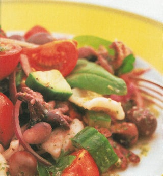 Chargrilled Calamari And Octopus Greek Salad