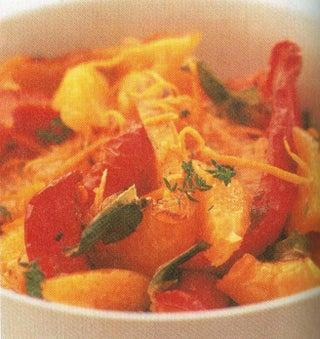 Roast Red Pepper And Orange Salad