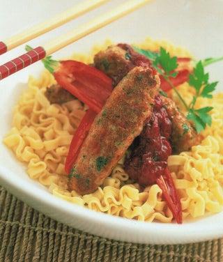 Asian Pork Sausages With Plum Sauce