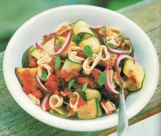 Marinated Squid And Aubergine Salad