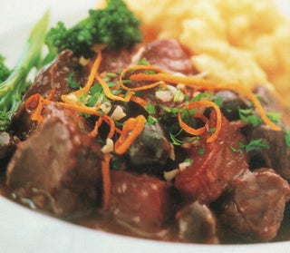 Daube Of Beef With  Orange Gremolada Topping