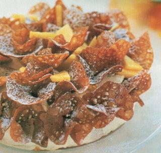 Pineapple Brandy Snap Gateau