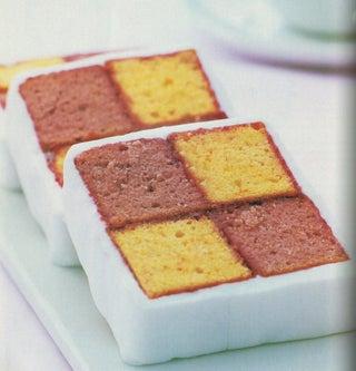 Raspberry And Orange Battenburg Cake