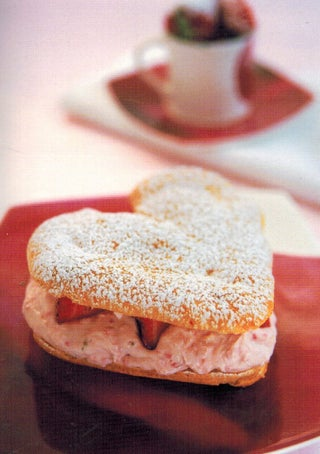 Choux Hearts With Strawberry Cream