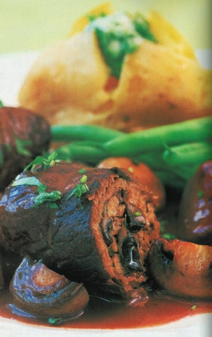 Beef And Pork Parcels In Red Wine