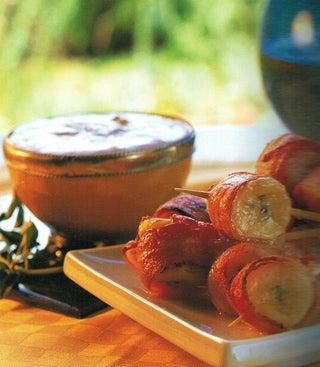 Banana And Bacon Nibbles With Creamy Mango Chutney