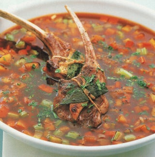 Lamb Cutlets In Minted Broth