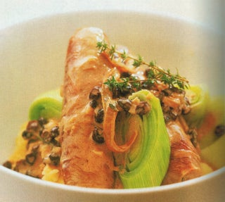 Chicken Sausages In Creamy Thyme Sauce