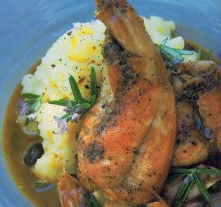Rabbit Braised With Rosemary And Garlic