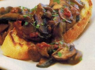 Kidney And Mushroom Ragout On Toasted Ciabatta