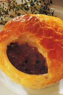 French Onion And Thyme Soup Under Pastry