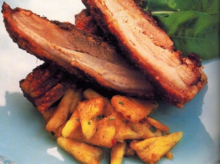 West Indian curry-spiced Pork Belly