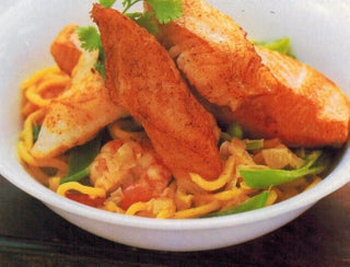 Coriander And Coconut Noodles With Seafood