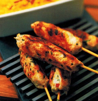Chicken Kebabs With Macadamia Nut Satay Sauce