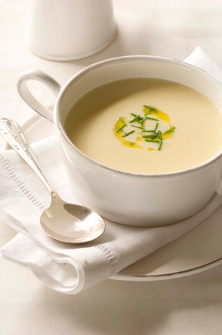 Cauliflower Soup With Lemon Oil And Chives