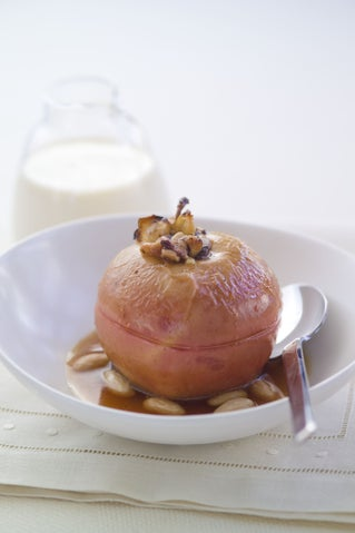 Baked Apples With Chocolate Marzipan