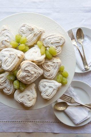 Brown Sugar And Hazelnut Meringue Hearts