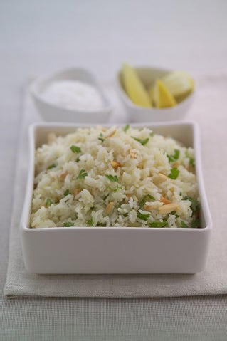Pilaf Rice With Lemon And Almonds