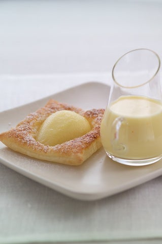 Pear Tarts With Hidden Chocolate Centres