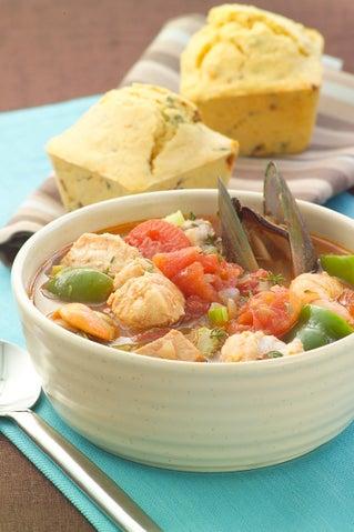 Seafood Gumbo Soup
