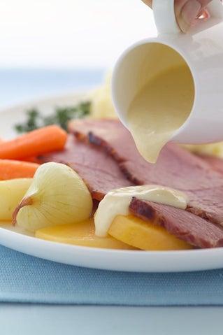 Honey Glazed Corned Beef With Winter Vegetables