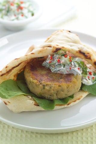 Indian Spiced Kumara And Bean Burgers