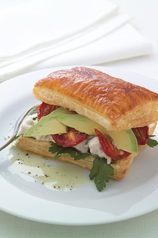 Smoked Chicken In A Pastry Sandwich