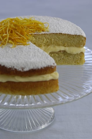 Olive Oil And Sauterne Cake With Creamy Lemon Honey