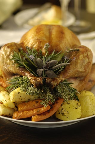 Roast Turkey With Nut And Fruit Stuffing
