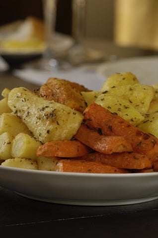 Parmesan and Rosemary Scented Roast Vegetables