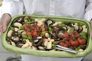 Mushroom, Aubergine And Bean Salad