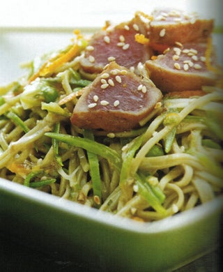 Spring Tuna And Green Tea Noodle Toss
