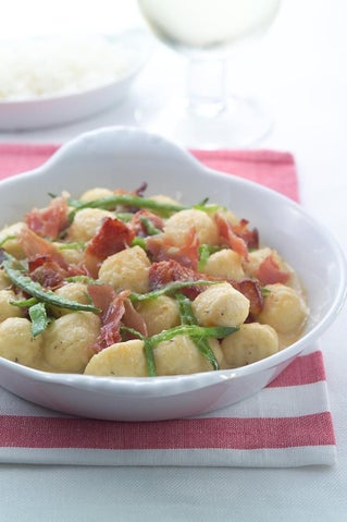 Gnocchi With Snow Peas And Bacon