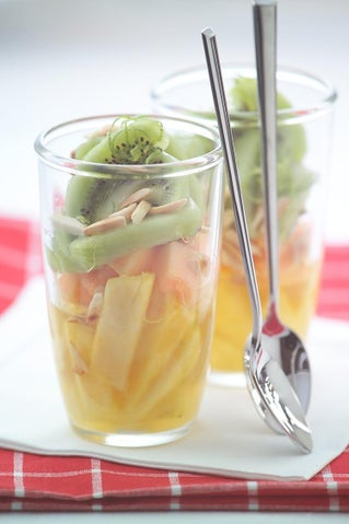 Pineapple And Melon Fruit Salad